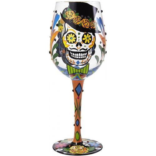 Sugar Skulls Wine Glass