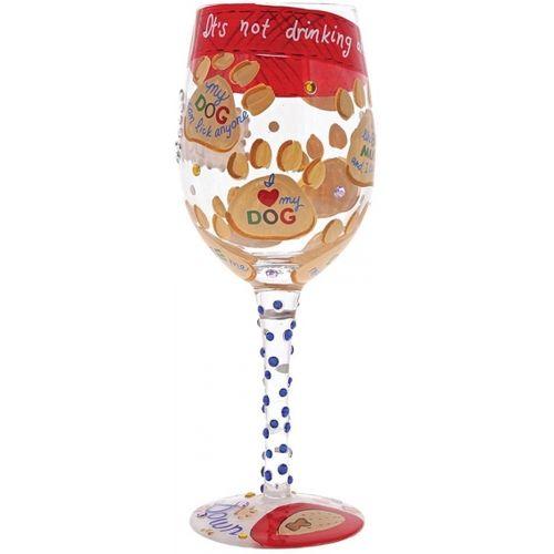 Love My Dog Wine Glass