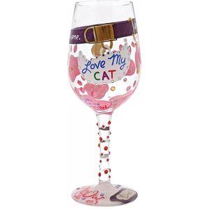 Lolita Love My Cat Wine Glass