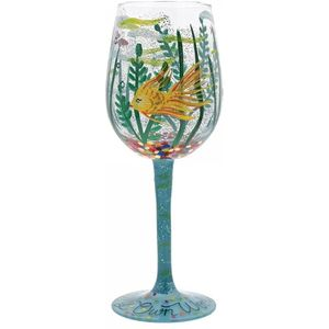 Lolita Hand Painted Wine Glass - In My Own World