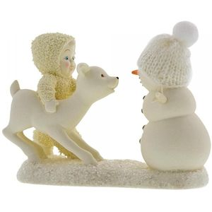 Snowbabies Deer Me Whos That Figurine