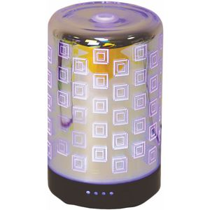 Aroma LED Ultrasonic 3D Essential Oil Diffuser: Squares