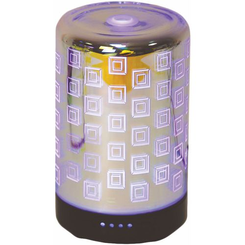 Aromatize Aroma LED Ultrasonic 3D Essential Oil Diffuser: Squares