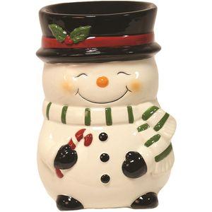 Aroma Wax Melt Burner: Snowman (White)