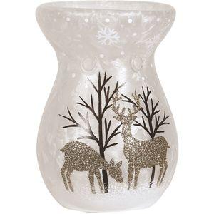 Aroma Wax Melt Burner: Gold Reindeer