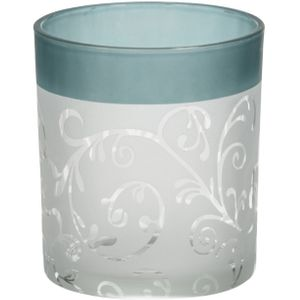 Teal Vine Votive Holder