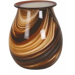 Aromatize Electric Wax Melt Burner - Art Glass Brown