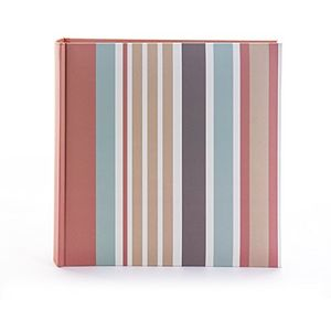 Kenro Candy Collection Stripes Memo Photo Album - 200 Photos 6x4""