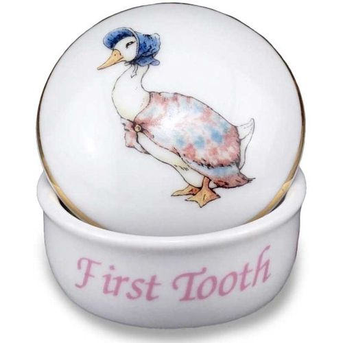 Beatrix Potter Jemima Puddleduck 1st tooth curl gift box