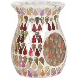 Aroma Wax Melt Burner: Red Shimmer Mosaic