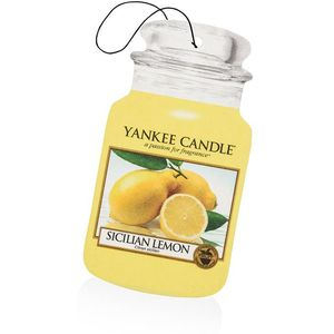 Yankee Candle Car Jar Air Freshener - Sicilian Lemon