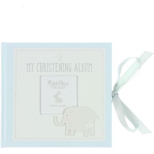 Petit Cheri Baby Christening Photo Album - My Christening Album (Blue)