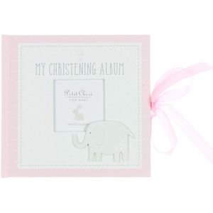 Petit Cheri Baby Christening Photo Album - My Christening Album (Pink)