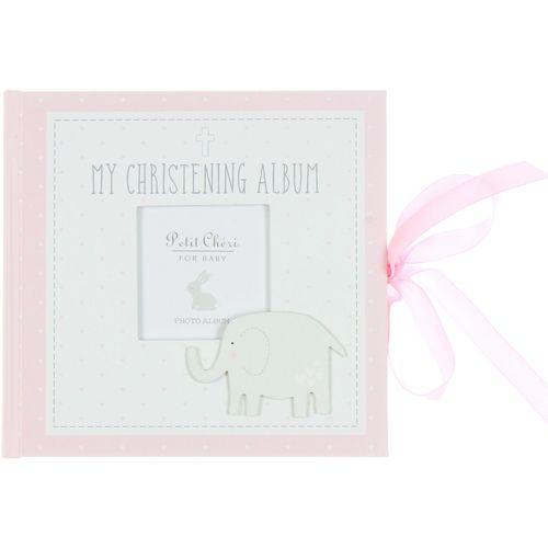Petit Cheri Baby Christening Photo Album - My Christening Album  (Pink)