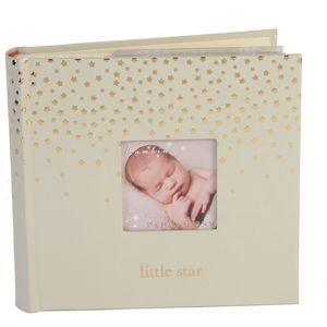 "Bambino Little Stars Photo Album Holds 80 4"" x 6"" Prints - Little Star"