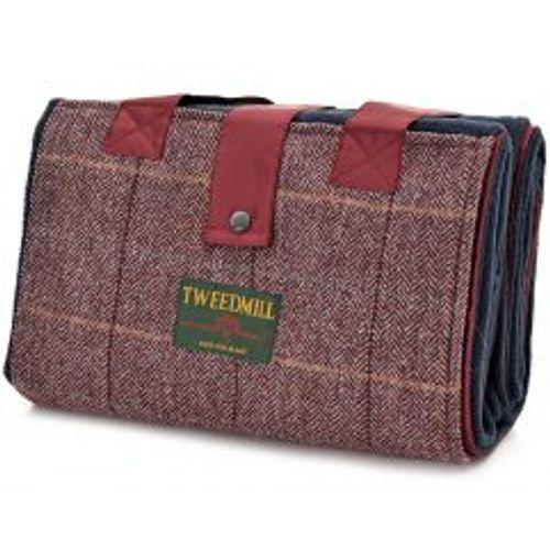 Tweedmill Leisure Picinic Rug - Wine & Navy Tweed
