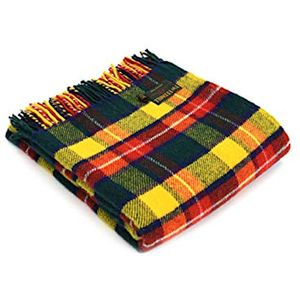 Tweedmill Traditional Tartan Throw - Bright Buchanan