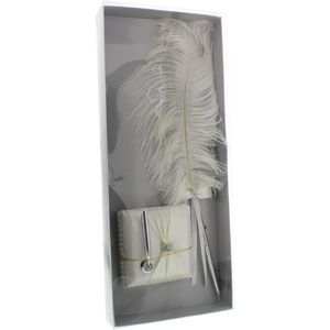 Wings of Love Ostrich Feather Pen & Stand