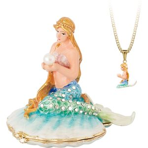 Hidden Treasures Secrets Mermaid Trinket Box