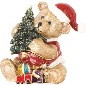 Craycombe Trinkets Teddy & Christmas Tree Trinket Box