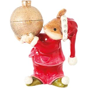Craycombe Trinkets Mouse & Christmas Bauble Trinket Box