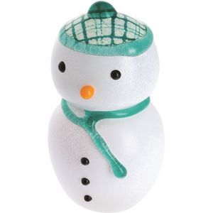 Caithness Glass Paperweight: Christmas MacSnowman (L)