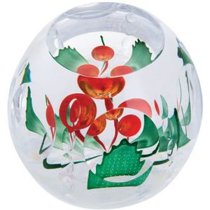 Caithness Glass Paperweight: Christmas Holly Berries