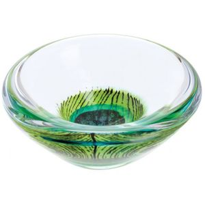 Caithness Crystal Peacock Giftware Dish