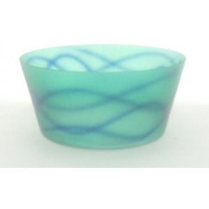 Bohemia Glassware Graffiti Glass Fruit Bowl