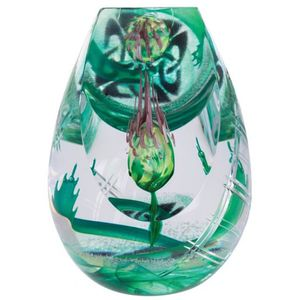 Caithness Crystal Scottish Celtic Hero Paperweight