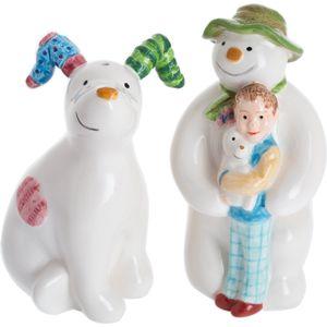 John Beswick The Snowman & Snowdog: Salt & Pepper Pots