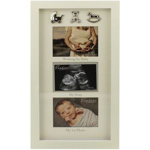 Juliana Bambino Collage Photo Frame - Waiting for Baby, My Scan, My 1st Photo