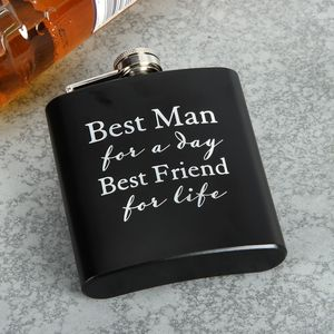 Best Man for a Day Hip Flask