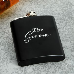 Amore Wedding Party Hip Flask - The Groom