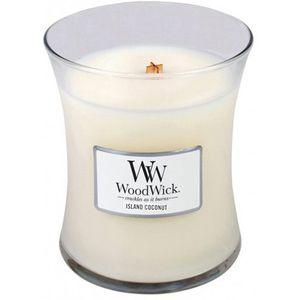 Woodwick Medium Jar Candle - Island Coconut