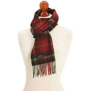 Tweedmill Lambswool Scarf - Dark Maple Tartan