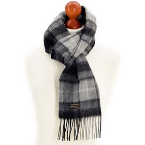 Tweedmill Lambswool Scarf - Grey Buchanan Tartan