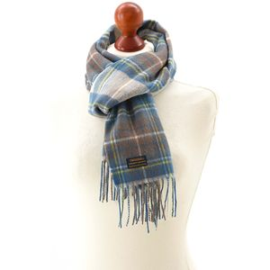 Tweedmill Lambswool Scarf - Dress Stewart Muted Blue