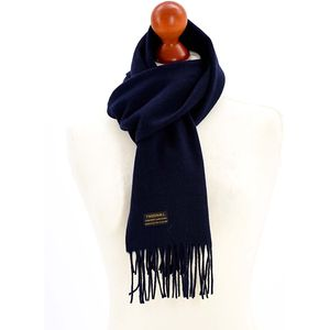 Tweedmill Lambswool Scarf - Navy