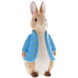 Beatrix Potter Peter Rabbit Sculpted Ceramic Money Bank - Peter Rabbit