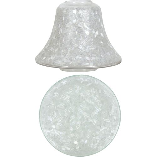 Aromatize Jar Candle Shade & Plate Set: Sugar Coat AR1199 AR1200
