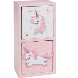 Unicorn Lullaby 2 Drawer Chest (Pink)