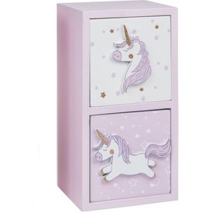 Unicorn 2 Drawer Chest (Lilac)