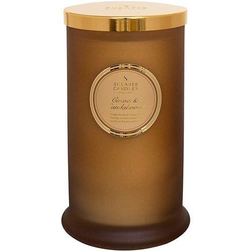 Shearer Candles Pillar Jar Candle - Cocoa & Sandalwood