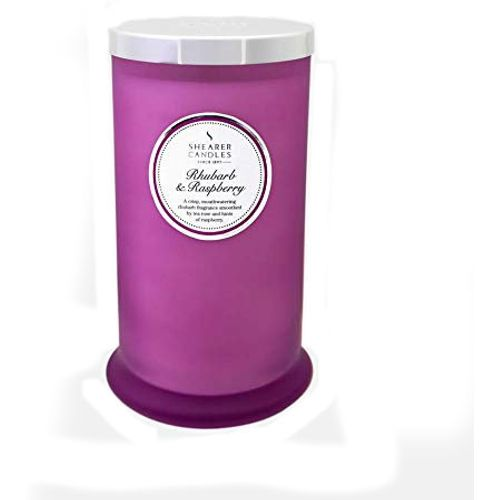 Shearer Candles Pillar Jar Candle  - Rhubarb & Raspberry