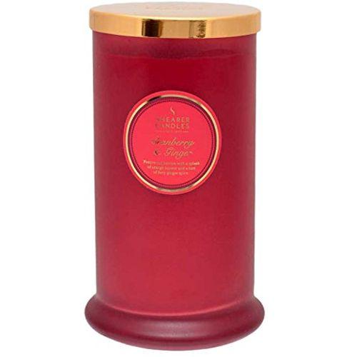 Shearer Candles Pillar Jar Candle - Cranberry & Ginger