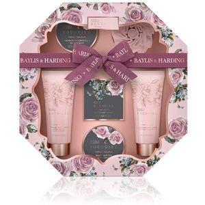 Bayliss & Harding Hexagon Tray Gift Set - Boudoire: Midnight Rose Petals