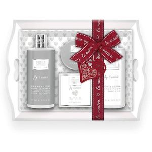Bayliss & Harding La Maison Wooden Tray Gift Set - Fig & Cassis