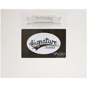 "Splosh Signature Photo Frame 6"" x 4"" - Christening"