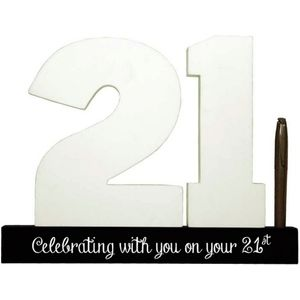 Splosh Signature Number Block - 21st Birthday